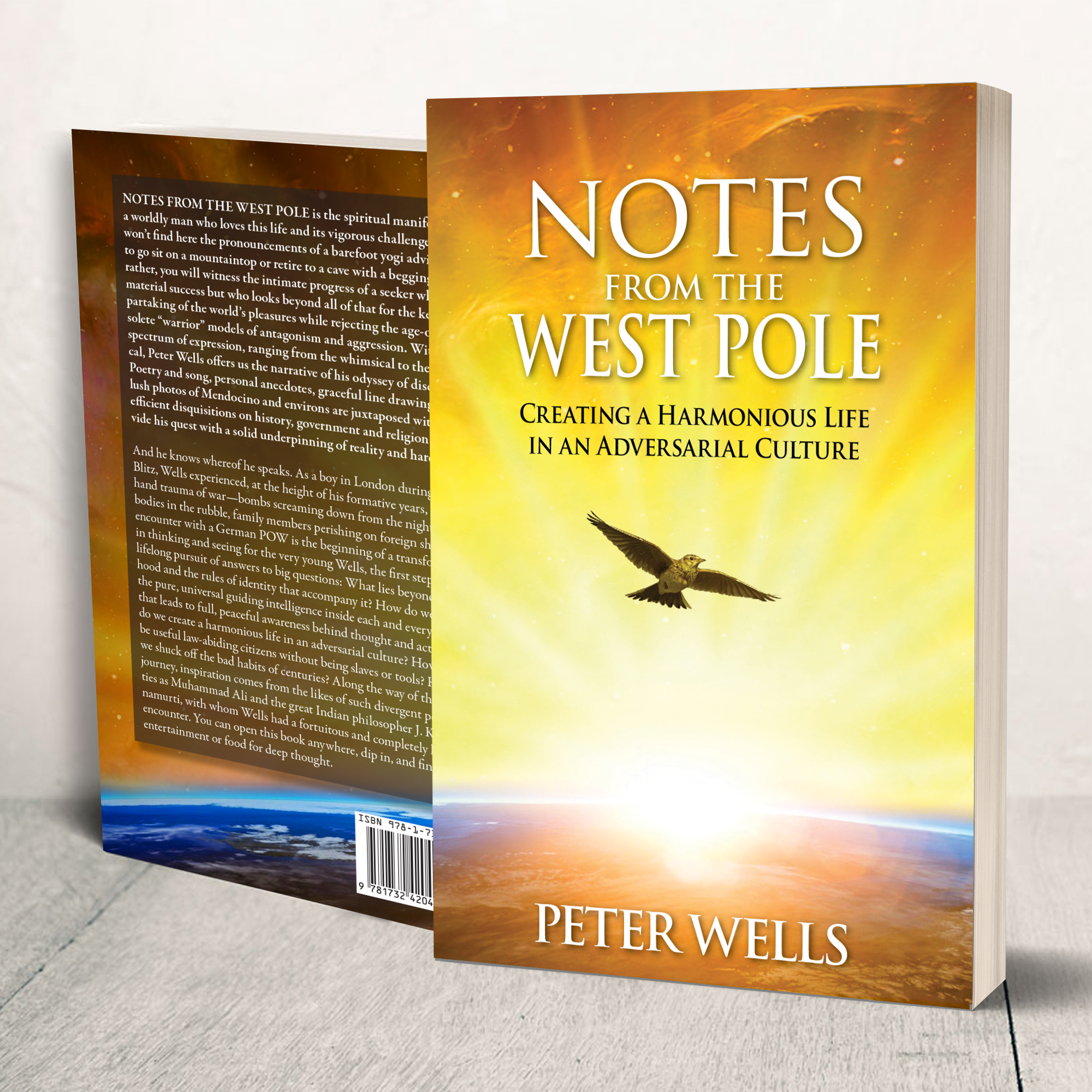 Hard cover book of Notes From The West Pole, by author Peter Wells.